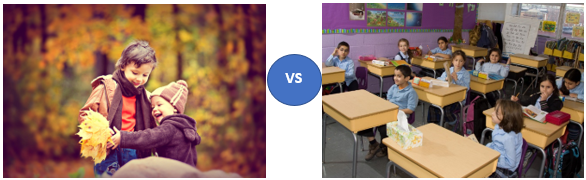 real world vs classroom